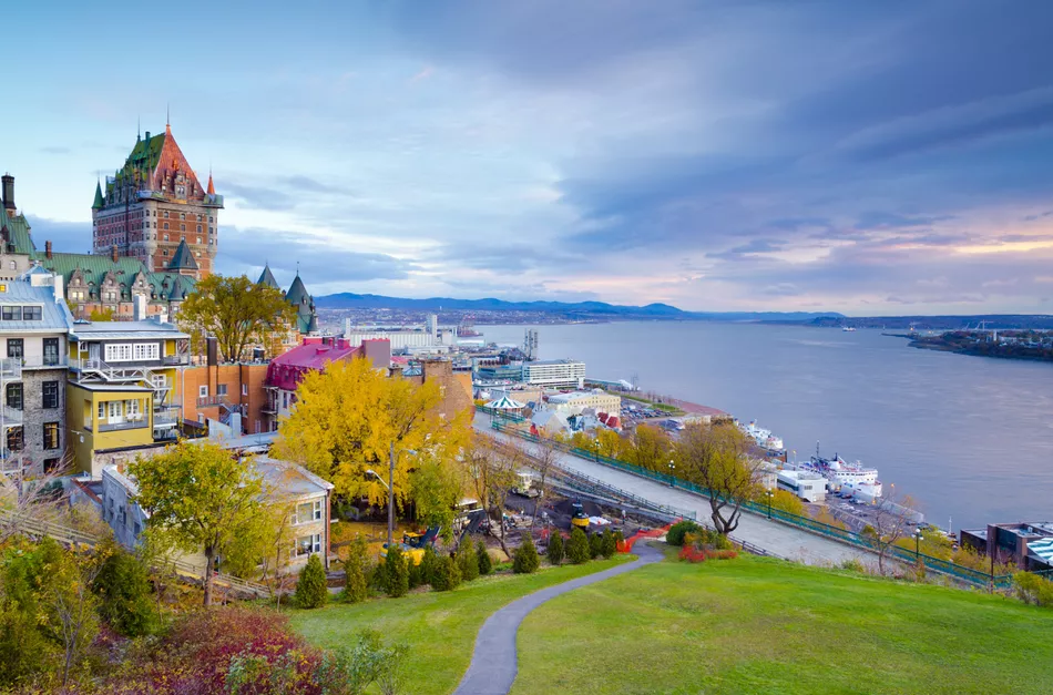 beautiful view of Quebec City Canada