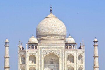 taj mahal monument front view picture