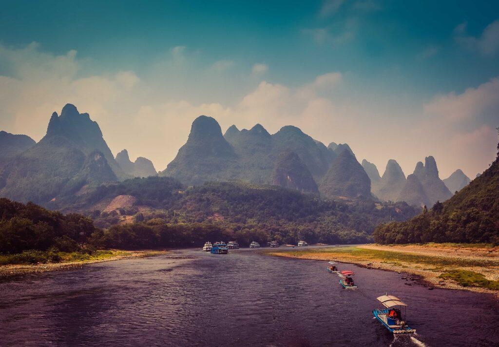 River Mountains Landscape Nature China - TOURHIKER