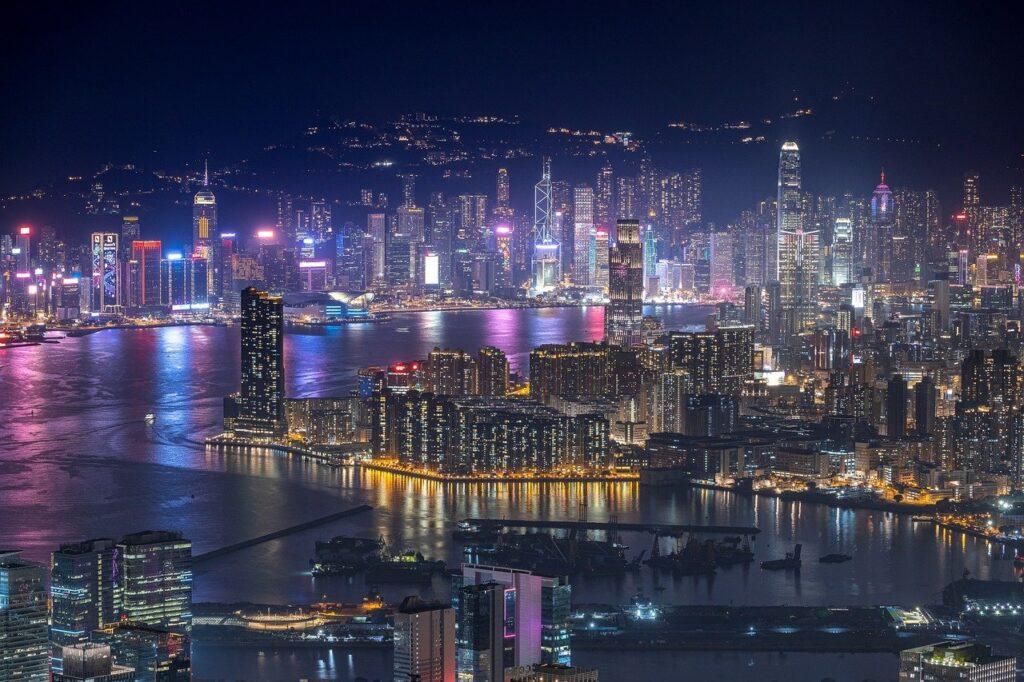 Skyscrapers Buildings Harbor Hong Kong China TOURHIKER