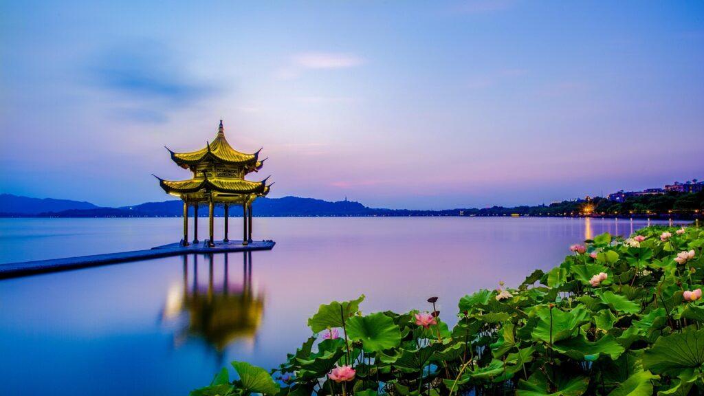 West Lake Pagoda Lake Reflection China - TOURHIKER