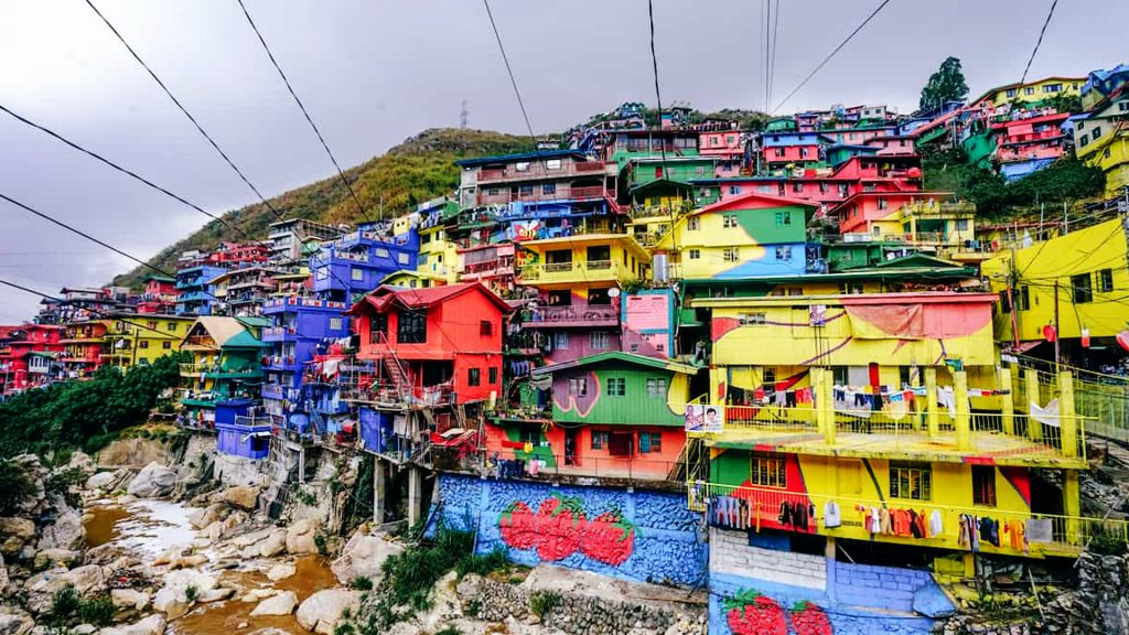 Full of life Colorful houses in Baguio