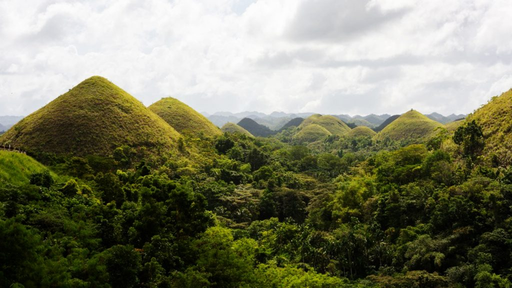 The highlands of the island -  Chocolate Hills