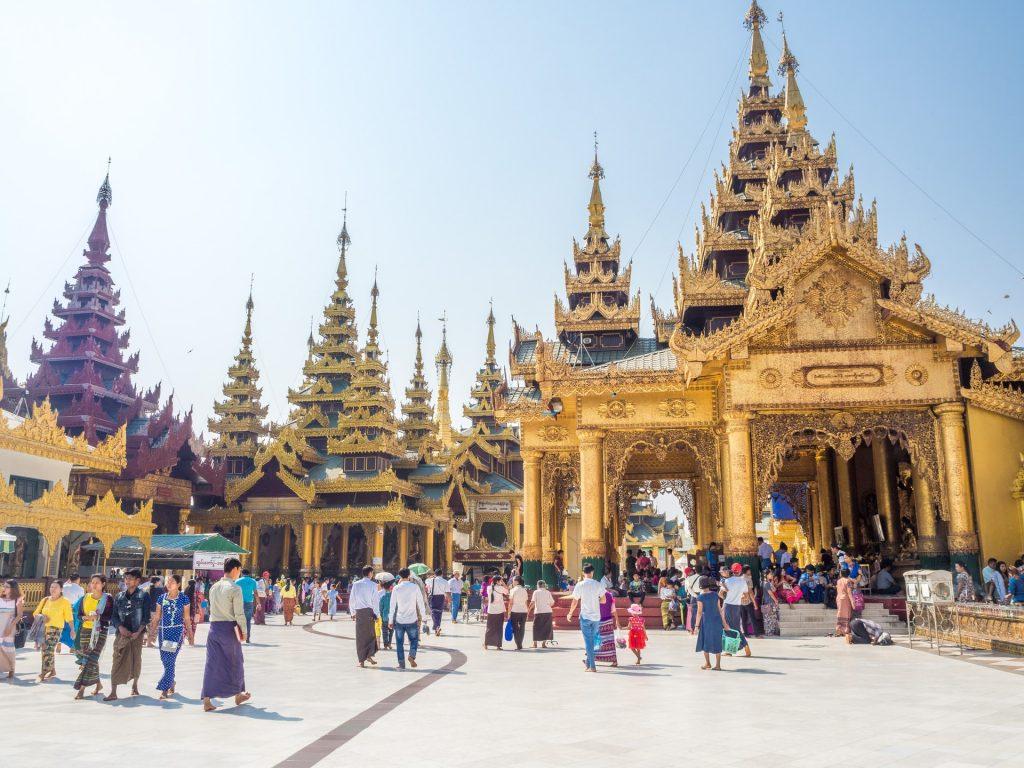 Popular religious site in Myanmar