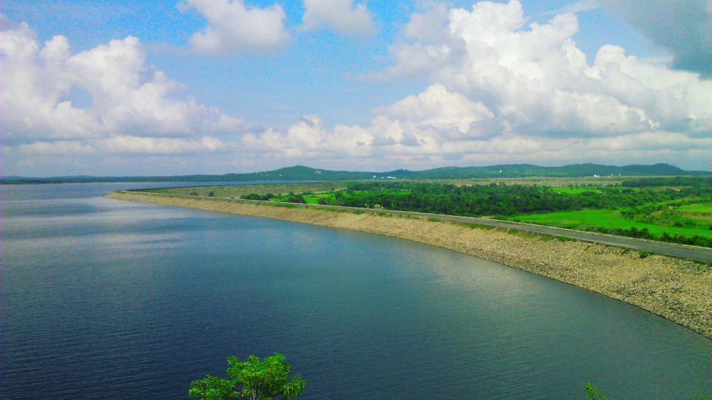 Mukutmanipur Dam ful of greenery and clean water