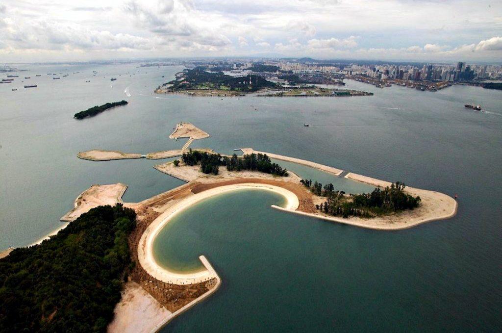 Aerial shot of an Island.