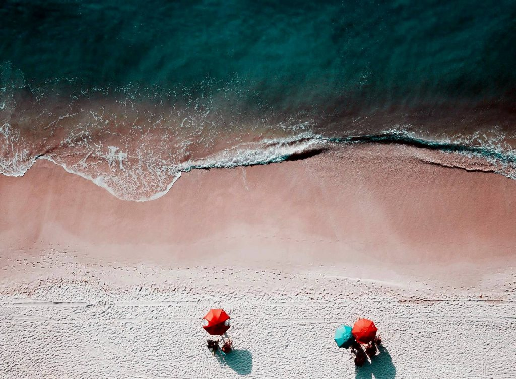 birds eye photography of seashore photo
