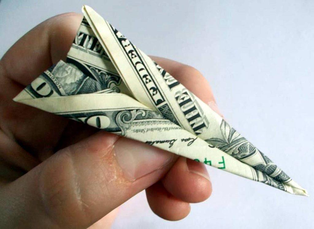 Paper plane dollar
